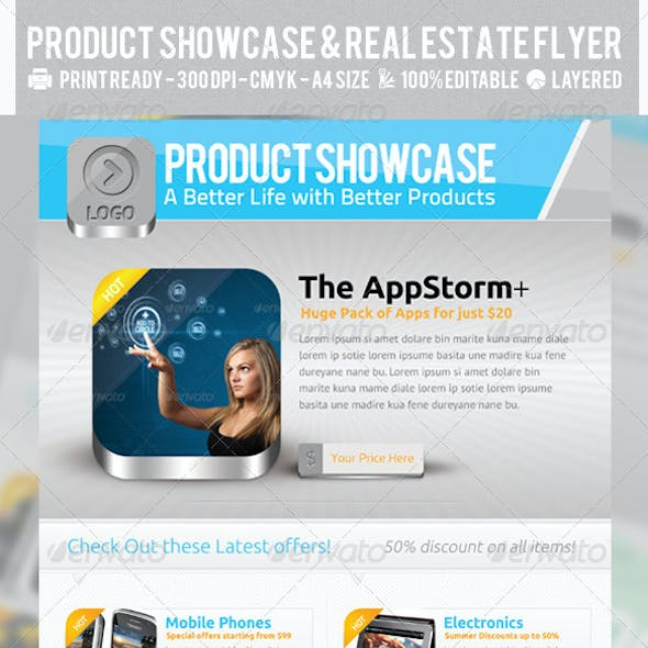 Product Showcase & Real Estate Flyers PSD Template