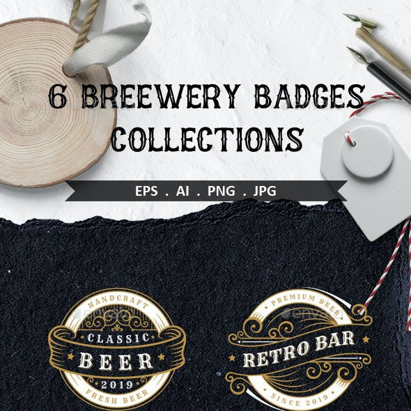 6 Brewery Badges