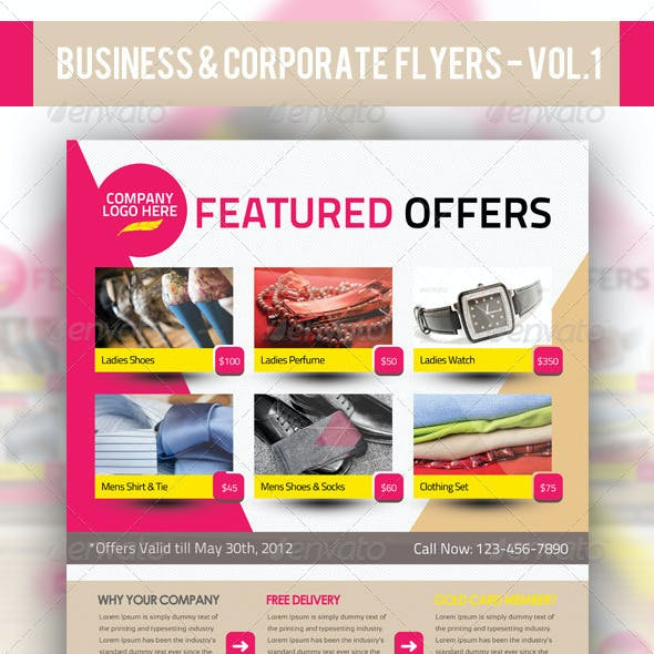 Business & Corporate Product Flyer PSD Templates