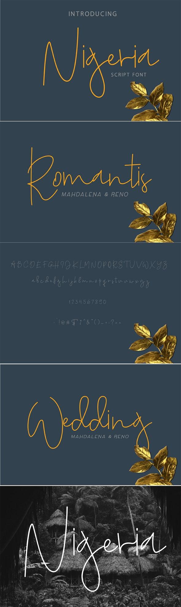 Nigeria - Script Fonts