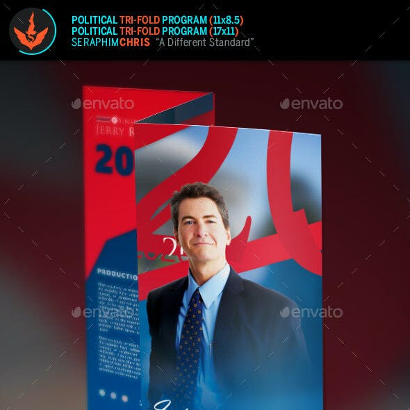 Political Election Tri-Fold Brochure Template
