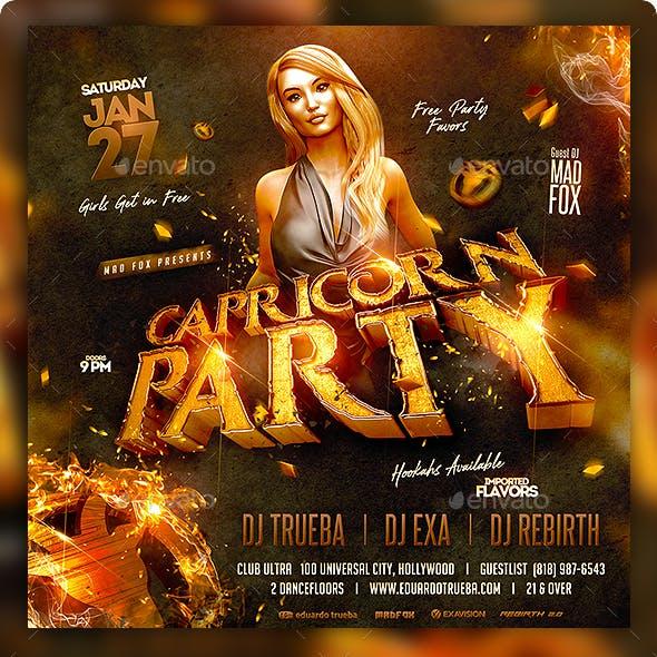 Capricorn Party Flyer