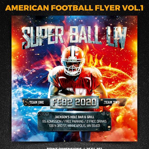 American Football Super Ball Square Flyer vol.1