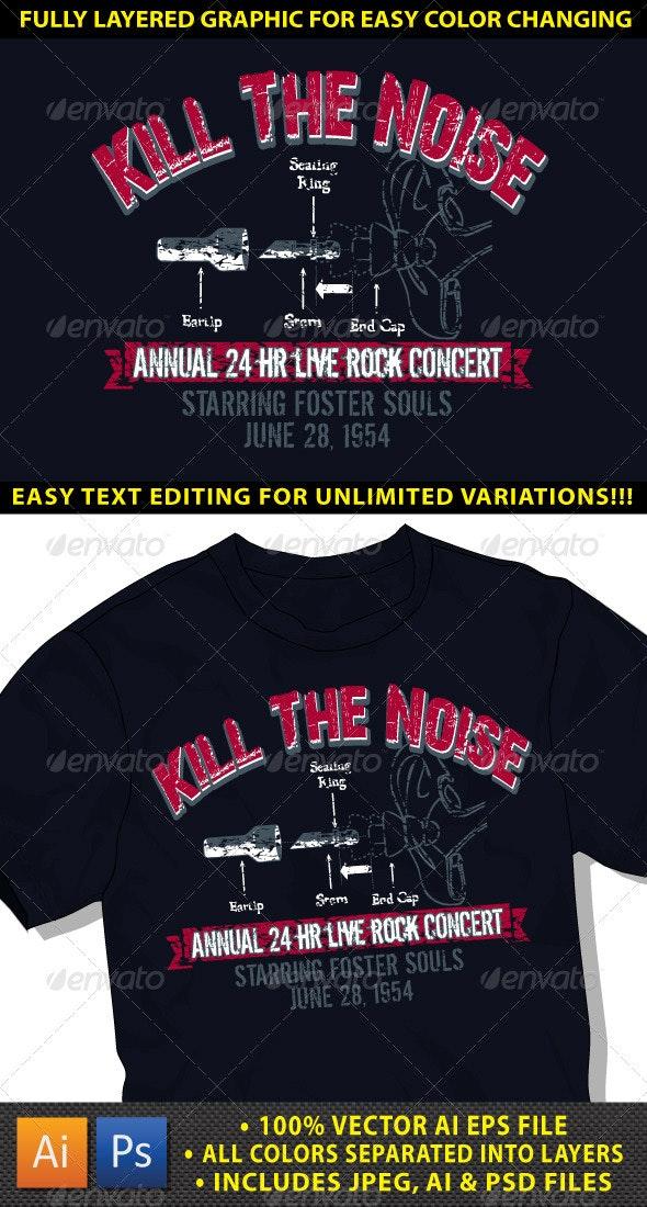 Rock Grunge T-shirt Graphic