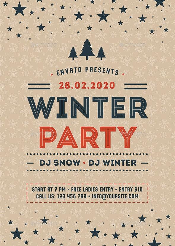 Winter Party Flyer - Flyers Print Templates
