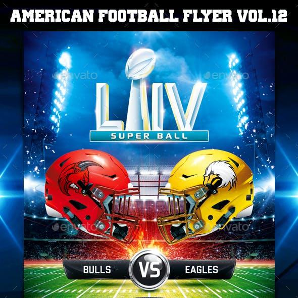 American Football Super Ball Flyer vol.12