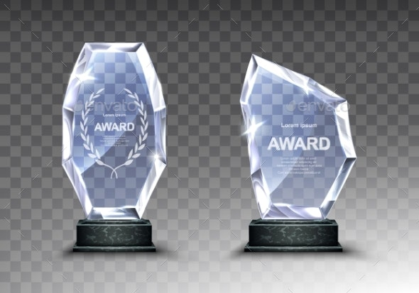 Crystal and glass Is Now Very Popular With Company Awards Presentation