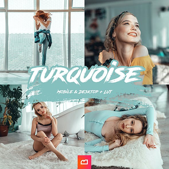 Artistic Collection - Turquoise Lightroom Preset (Mobile & Desktop + LUT)