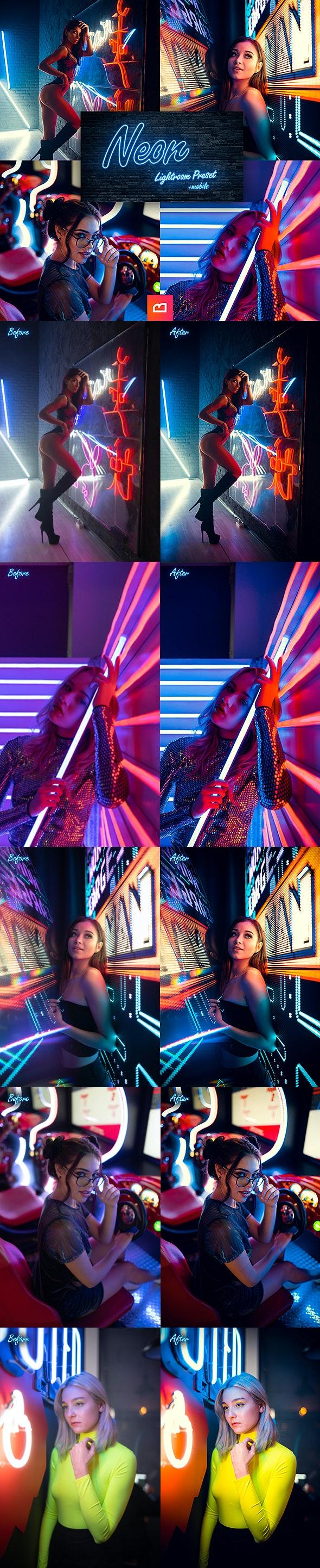 Artistic Collection - Neon Lightroom Preset (Mobile & Desktop) - Portrait Lightroom Presets