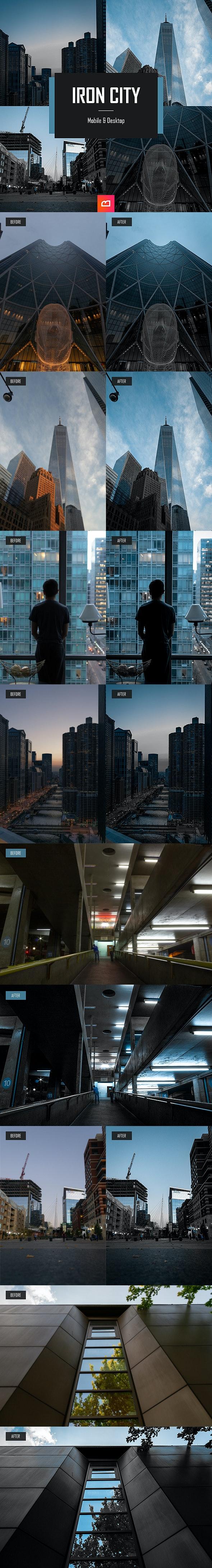 Architecture Collection - Iron City Lightroom Preset (Mobile & Desktop) - Landscape Lightroom Presets