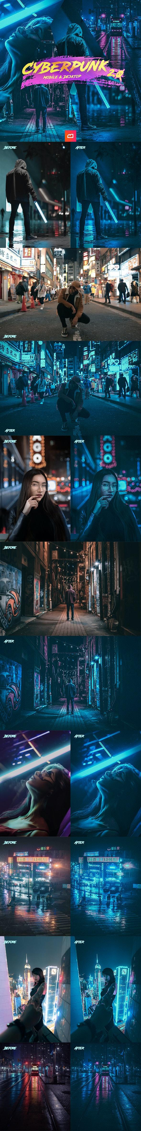 Artistic Collection - Cyberpunk 2.0 Lightroom Preset (Mobile & Desktop) - Cinematic Lightroom Presets