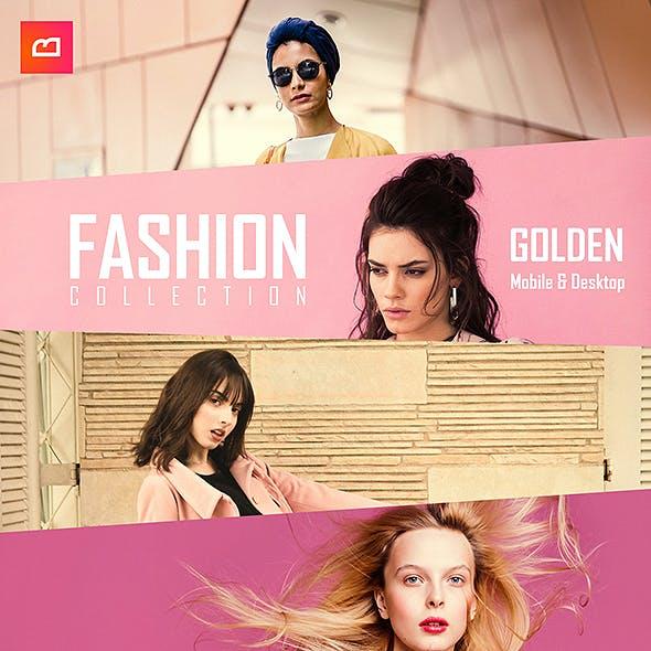 Fashion Collection - Golden Lightroom Preset (Mobile & Desktop)