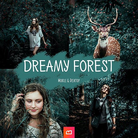 Artistic Collection - 1+2 Dreamy Forest Lightroom Preset (Mobile & Desktop)