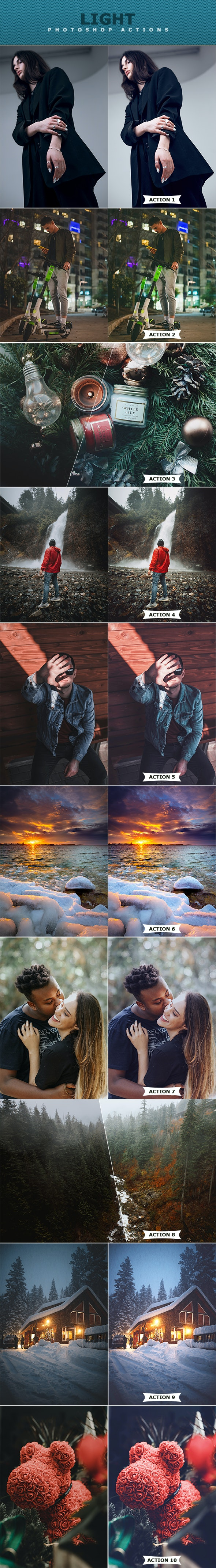Light Photoshop Action - Photo Effects Actions