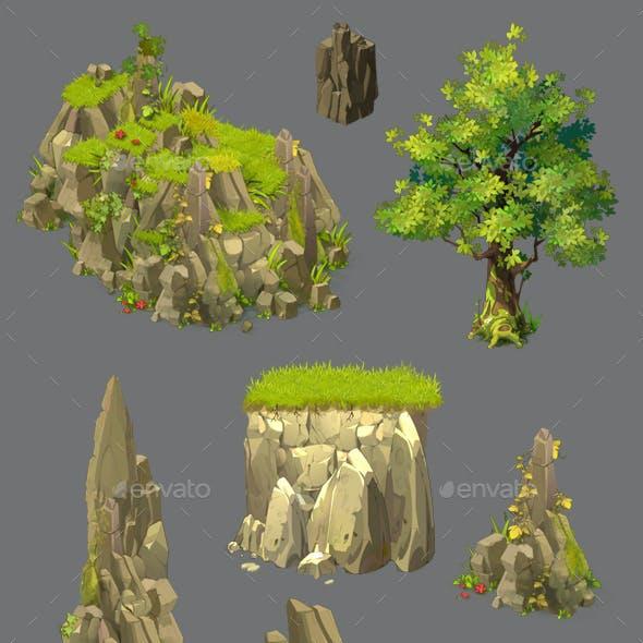 Cartoon Environment Construction Kit Game Assets