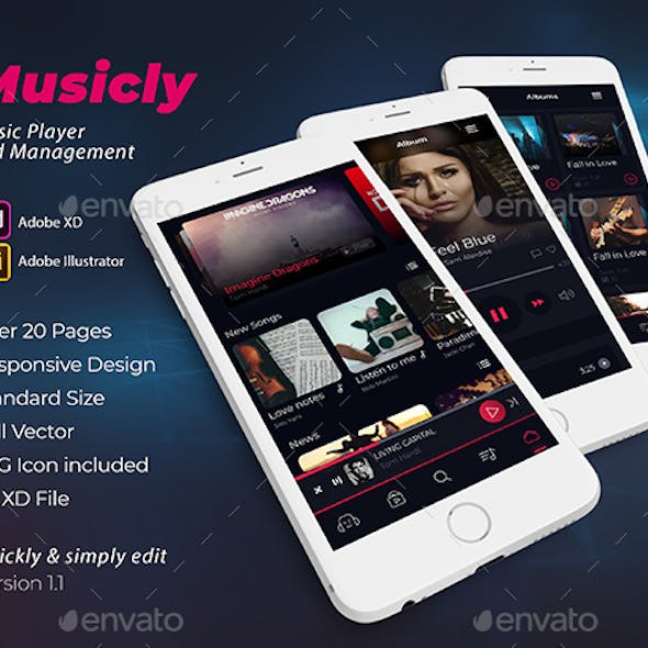Musicly - Music Player Application