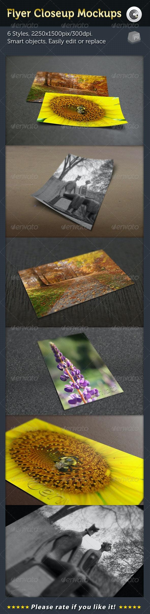 Flyer Closeup Mock-ups - Flyers Print