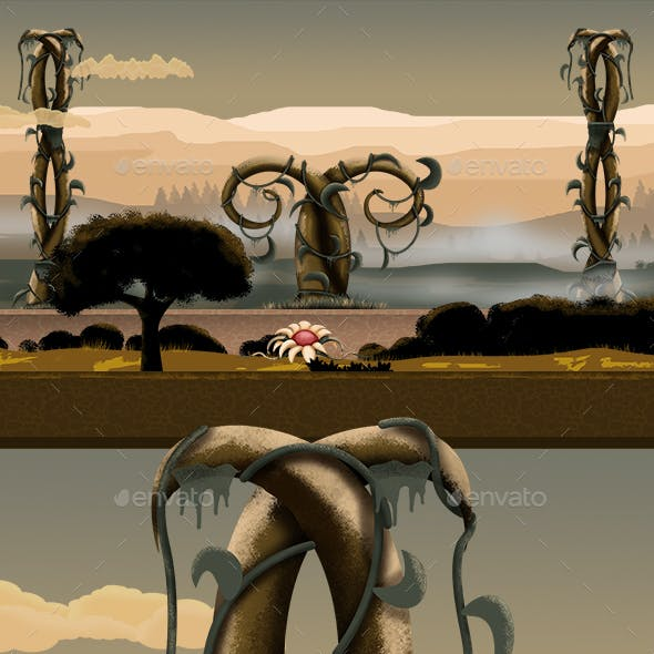 Fantastic Landscape Game Background