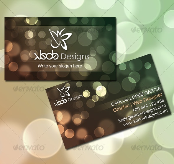 Bokeh Card - Creative Business Cards