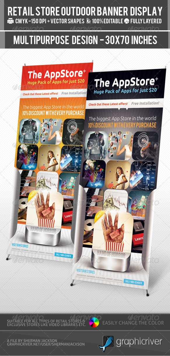 Retail Store Billboard & Outdoor Banner Signage - Signage Print Templates