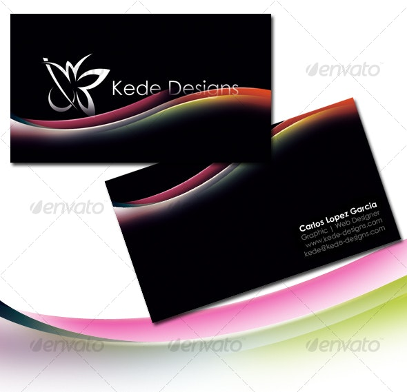 Waves Card - Creative Business Cards