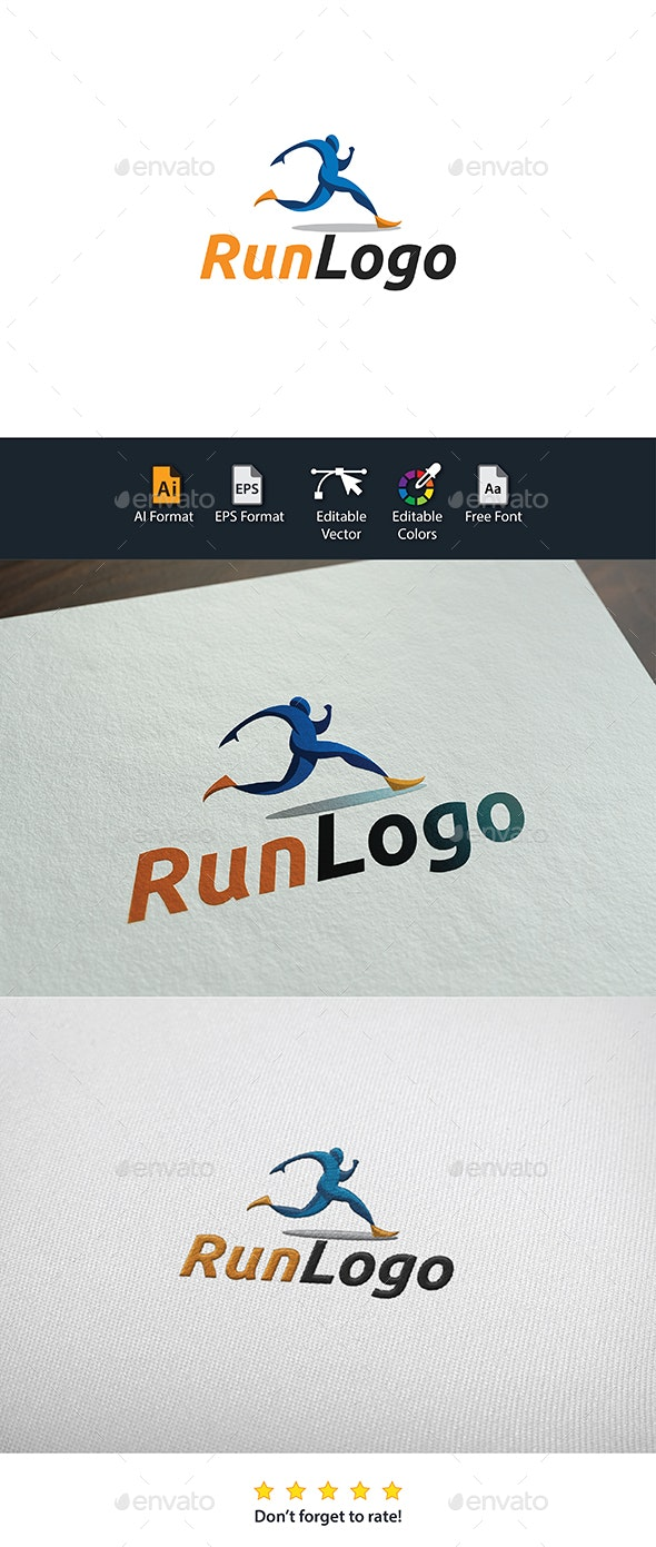 Run Logo - Humans Logo Templates