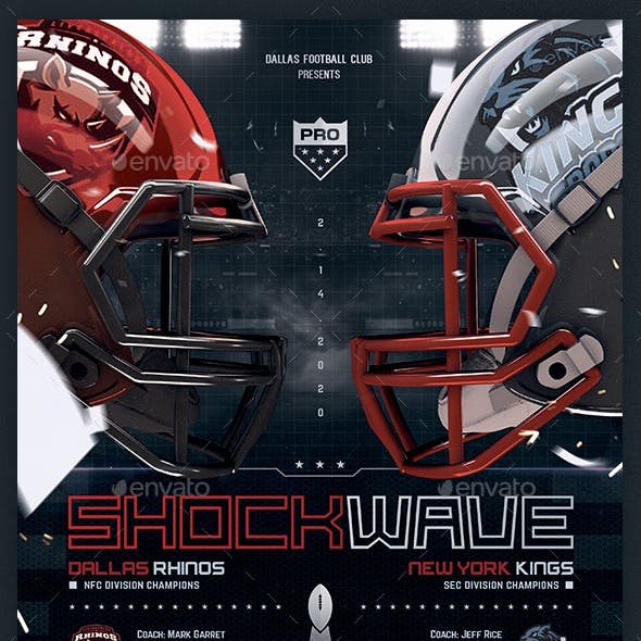 American Football Flyer v10 Football Match Template