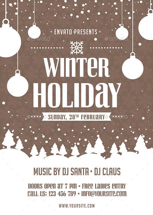 Winter Holiday Flyer - Holidays Events