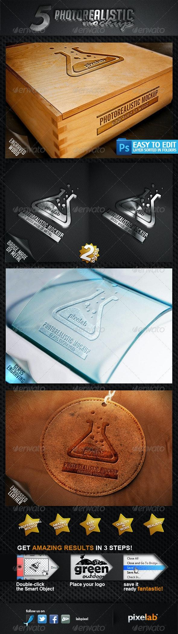 Photorealistic Logo MockUp - Logo Product Mock-Ups