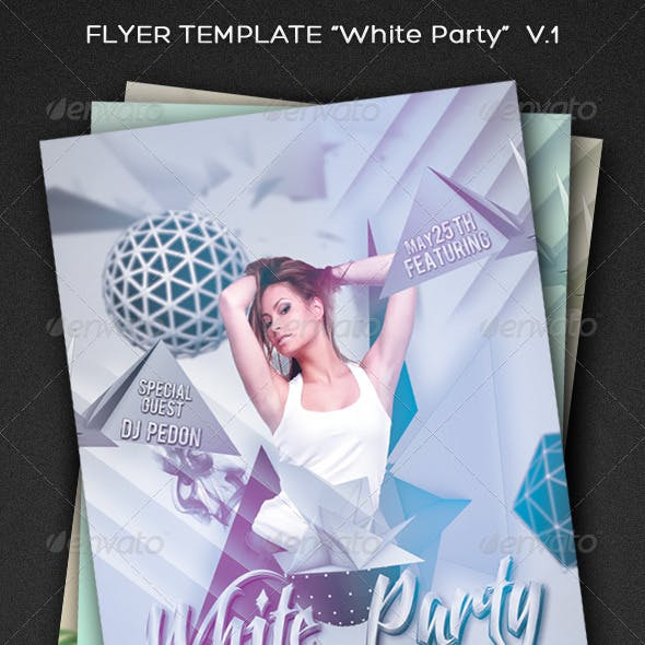 "Party Flyer Template ""White Party"" V.1"