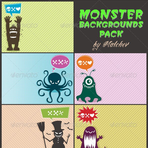 Monster Backgrounds Pack