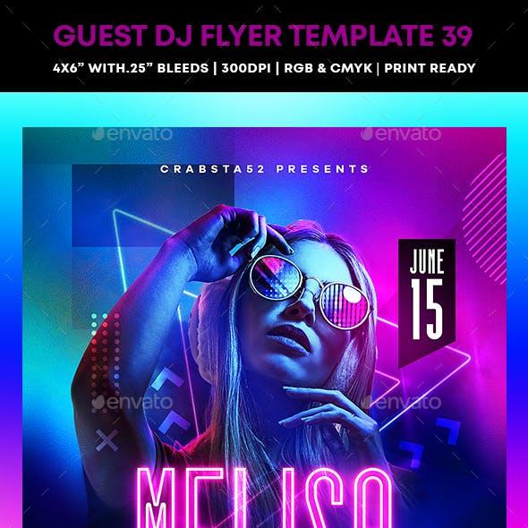 Guest DJ Flyer Template 39