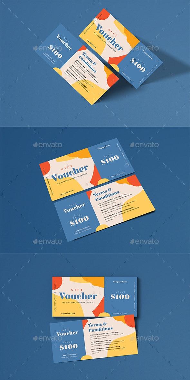 Simple Aesthetic Voucher - Cards & Invites Print Templates