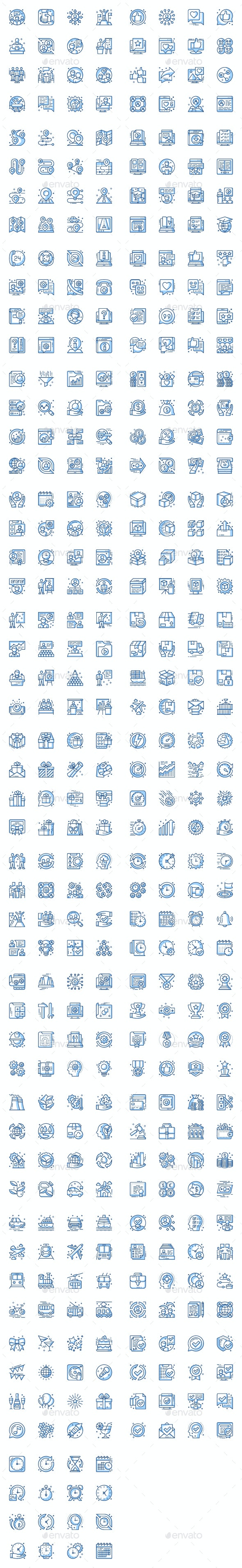 Thin Line Icons Business Pack - Business Icons