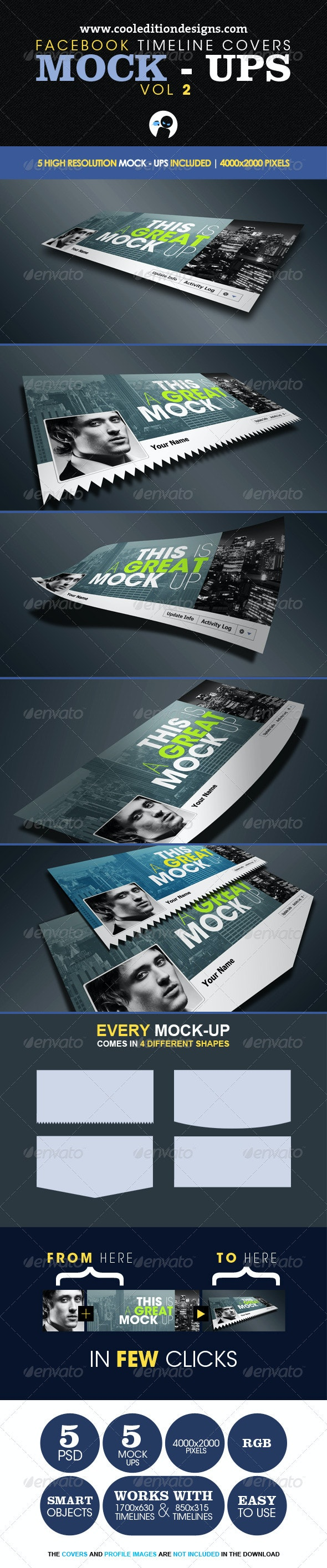 Facebook Timeline Covers Mock-Ups VOL2 - Miscellaneous Graphics