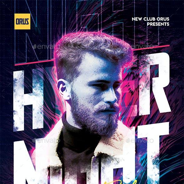 Hyper Night Party Flyer
