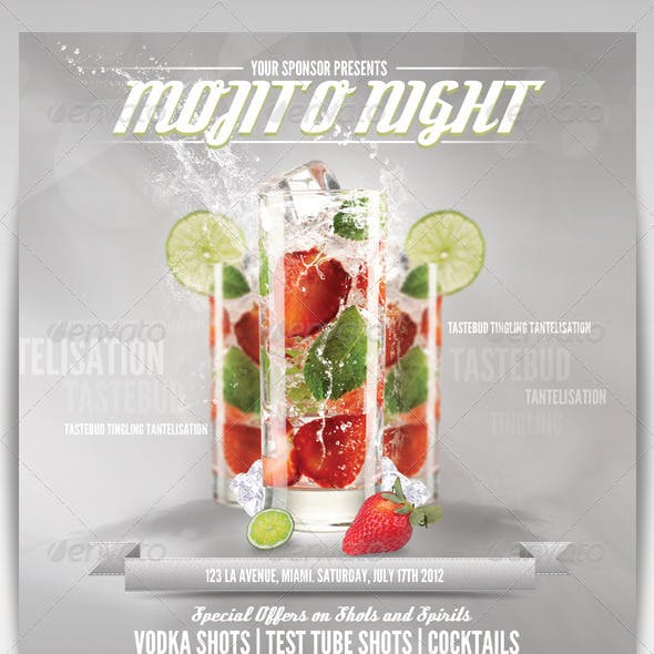 Drinks Advert Flyer Template