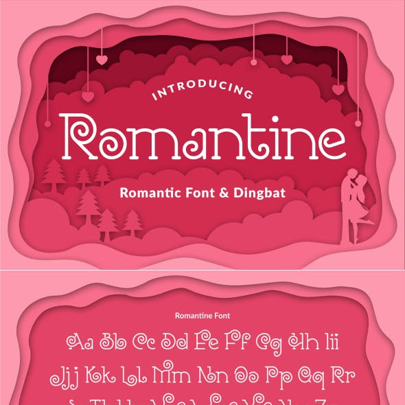 Romantine ~ Romantic Font