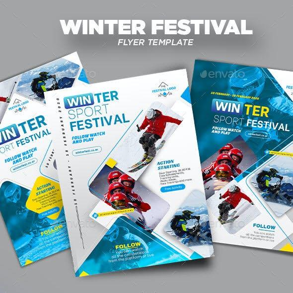 Winter Sport Festival Flyer