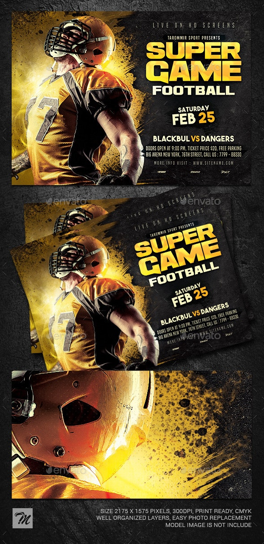 Super Game Football Flyer