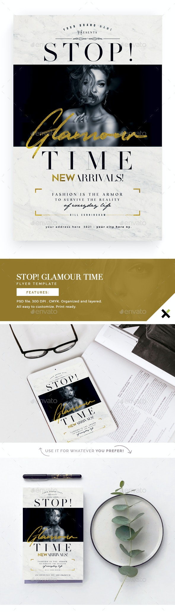 Stop! Glamour Time Flyer Template - Flyers Print Templates