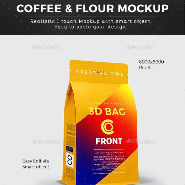 Coffee & Flour Paper Bag Mockup
