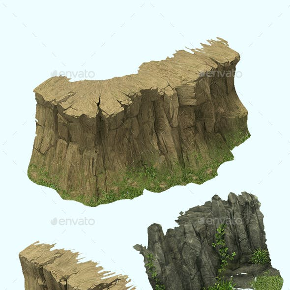 2.5D Rock And Mountain Construction Kit Game Assets