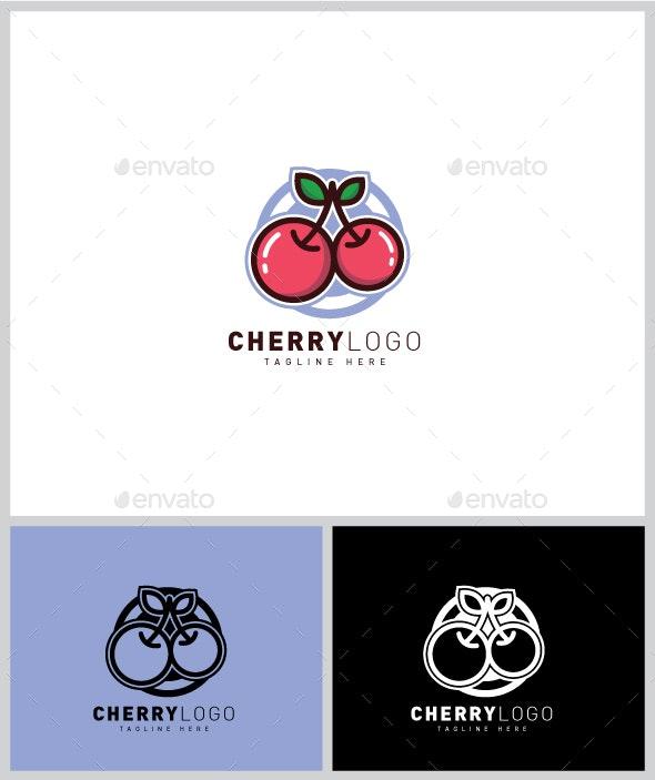 Cherry Logo - Food Logo Templates