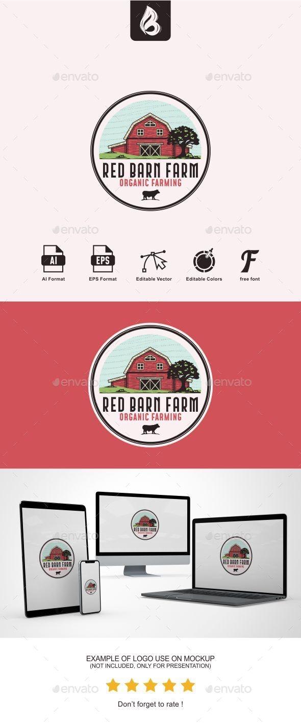 Red Barn Farm Logo - Buildings Logo Templates