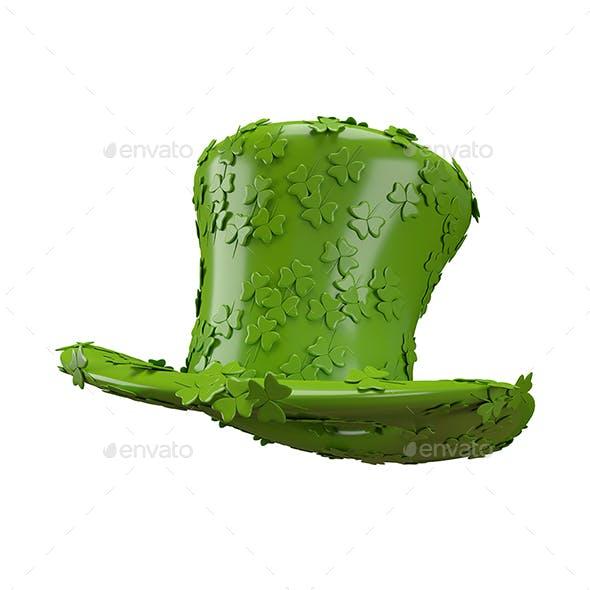 3D Illustration of Saint Patrick hat