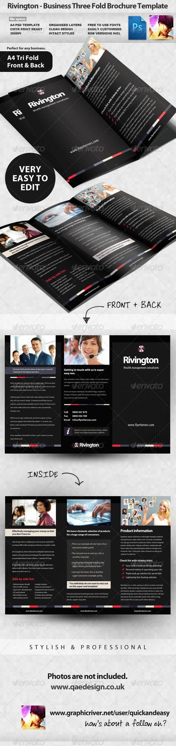 Rivington Three Fold Business Brochure - Corporate Brochures