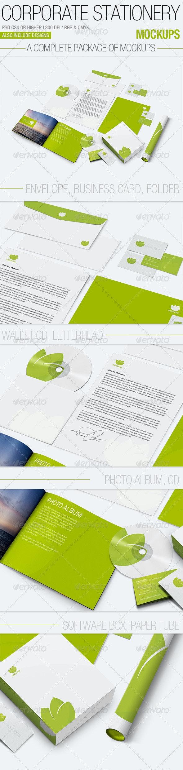 Corporate Stationery Mockups - Stationery Print