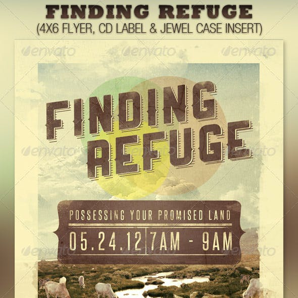 Finding Refuge Church Flyer and CD Template