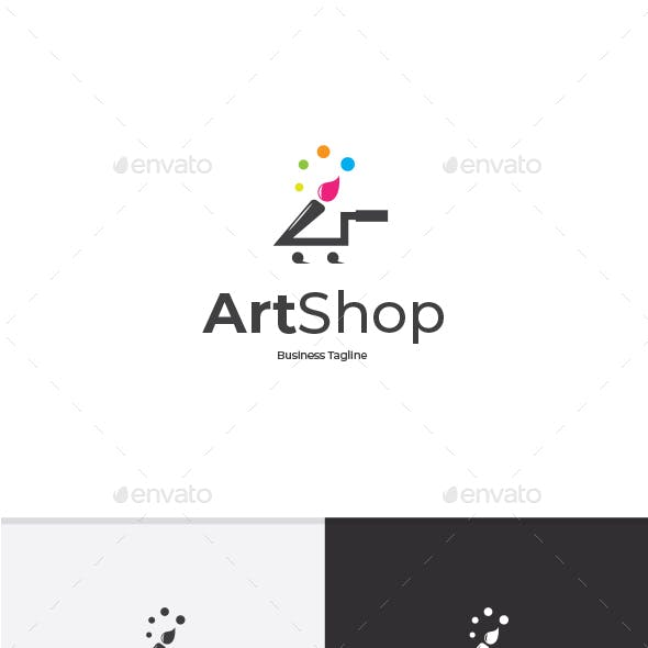 Art Shop Logo Template